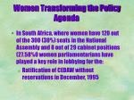 women transforming the policy agenda