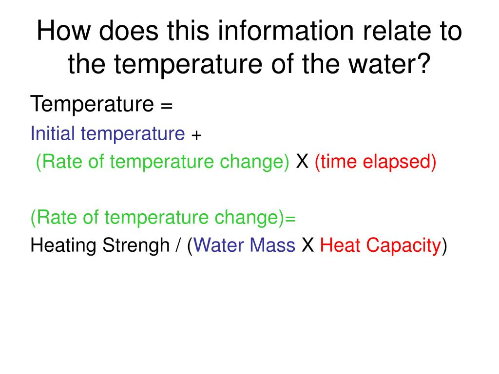 How does this information relate to the temperature of the water?