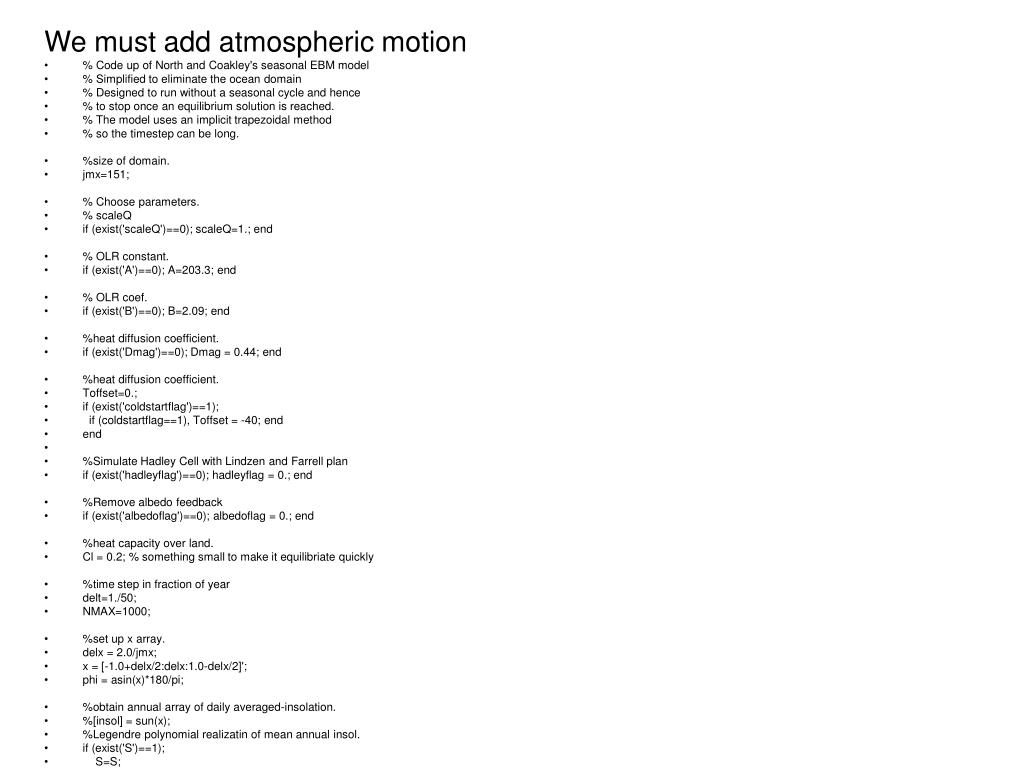 We must add atmospheric motion