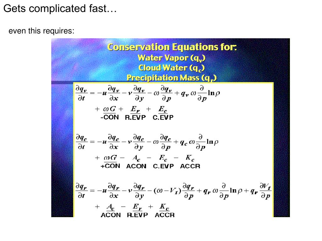 Gets complicated fast…