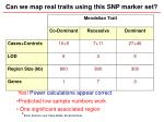 can we map real traits using this snp marker set