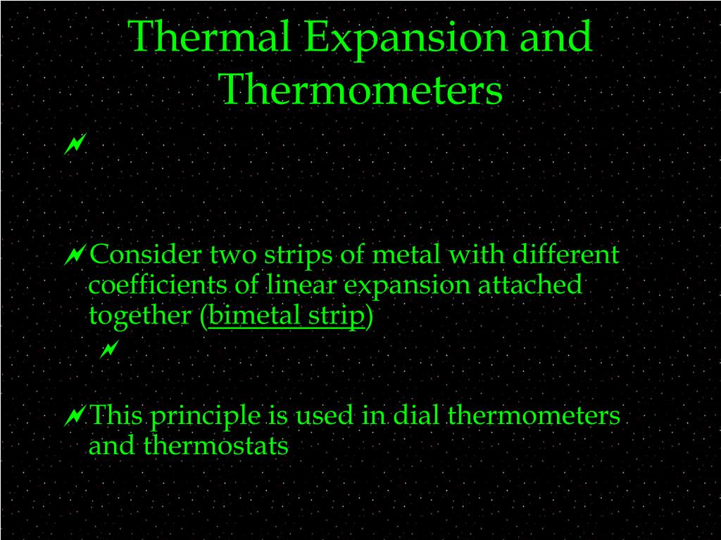Thermal Expansion and Thermometers