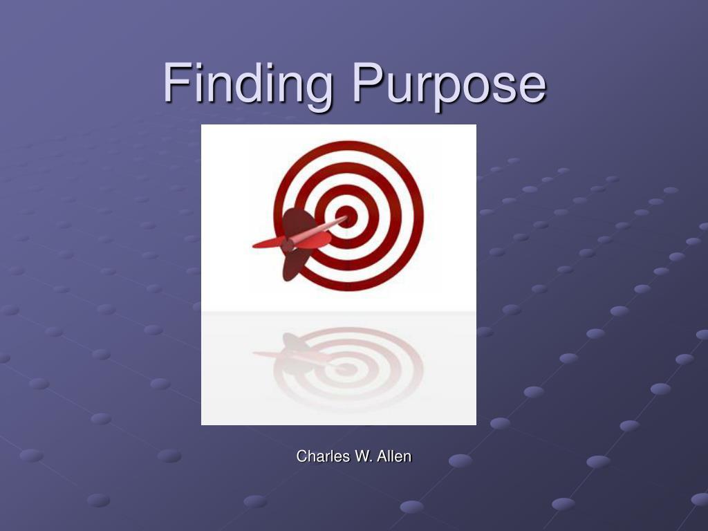 finding purpose l.