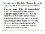 advantages of banfield medical records for drug ae post marketing surveillance