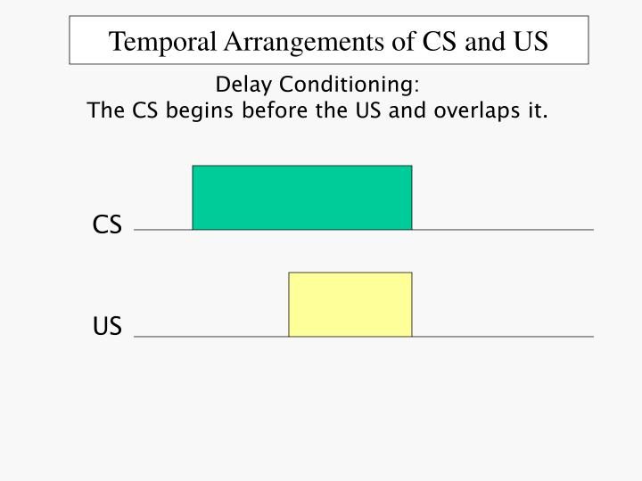 Temporal arrangements of cs and us2