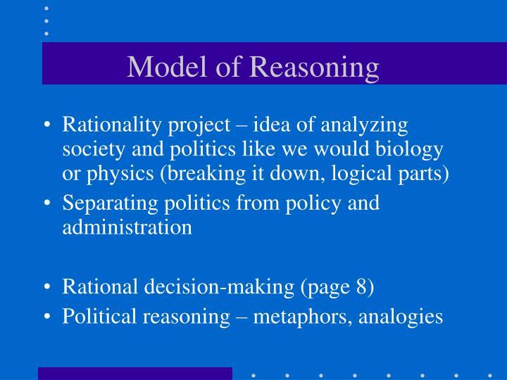 Model of Reasoning