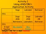 activity 1 using and or application activity