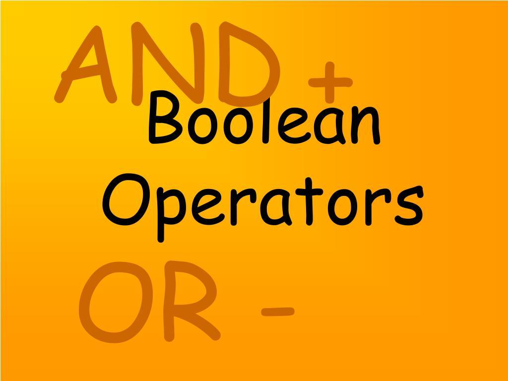 boolean operators l.