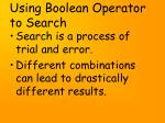 using boolean operator to search