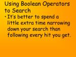 using boolean operators to search