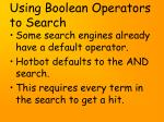 using boolean operators to search19