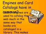 what do search engines and card catalogs have in common