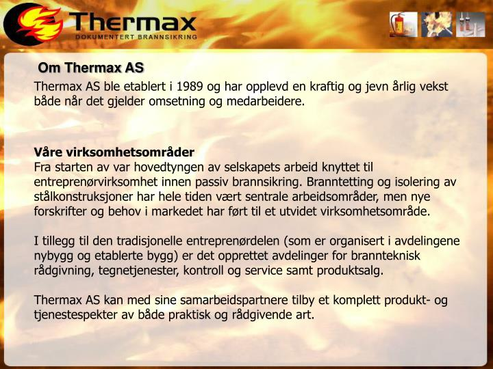 Om Thermax AS