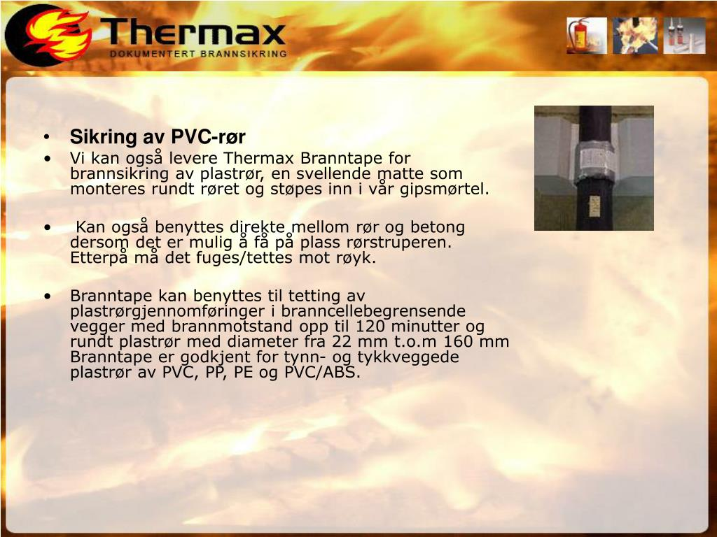 Sikring av PVC-rør