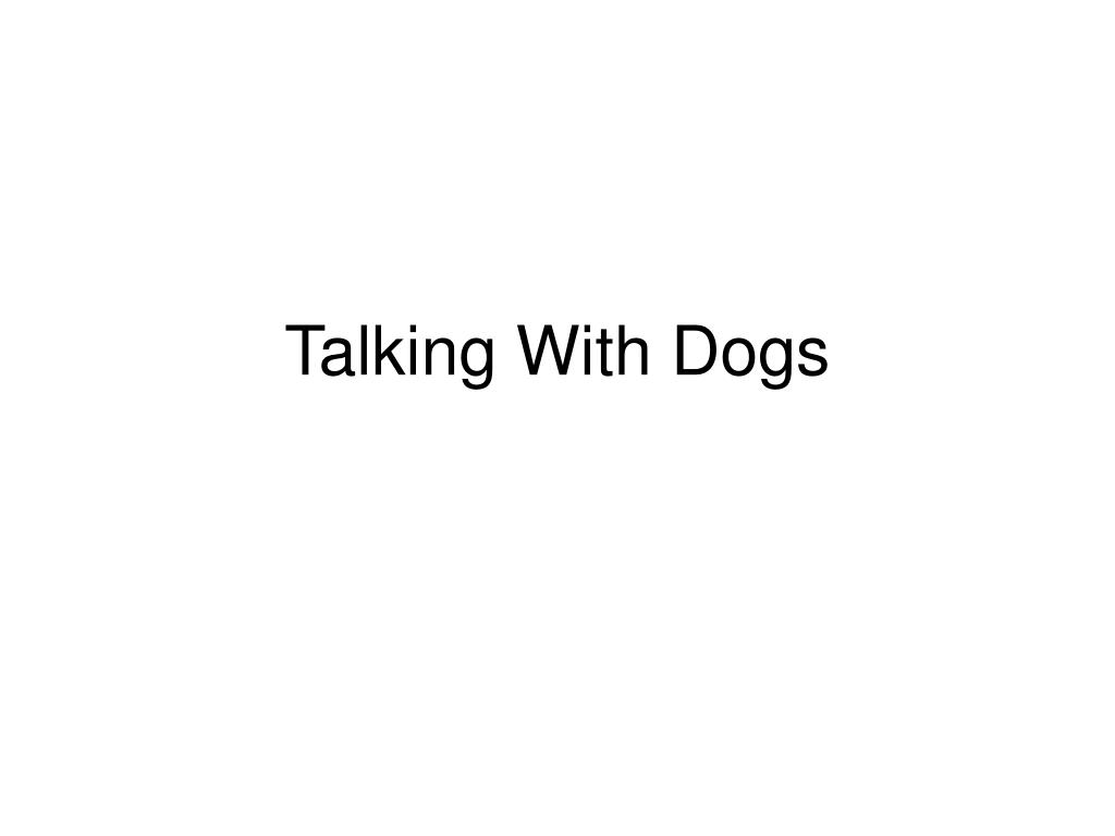 talking with dogs l.