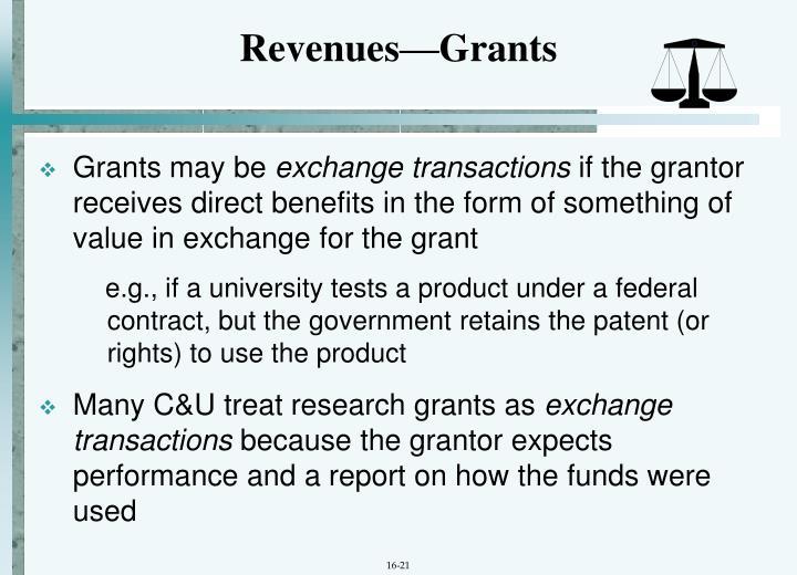 Revenues—Grants