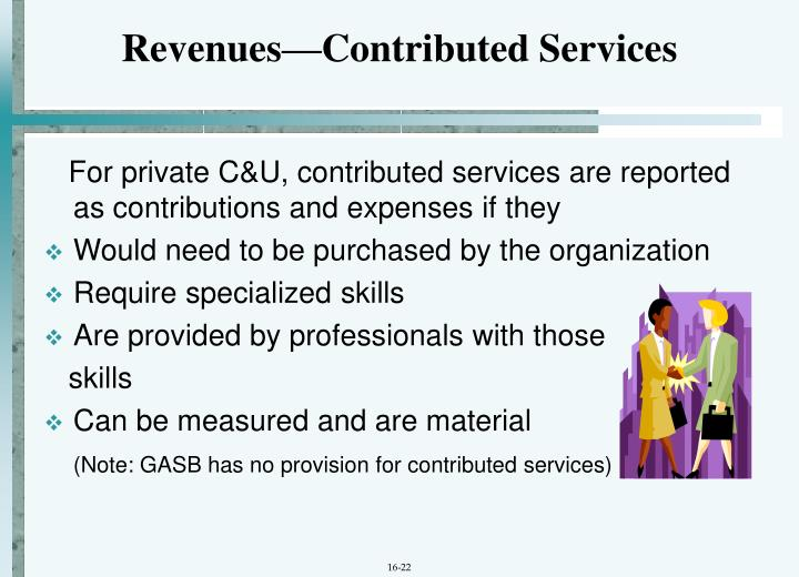 Revenues—Contributed Services