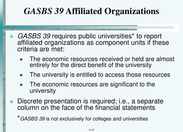 GASBS 39