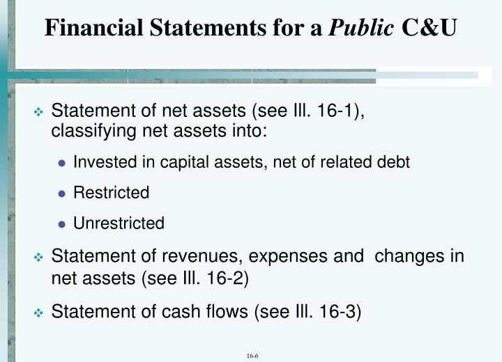 Financial Statements for a