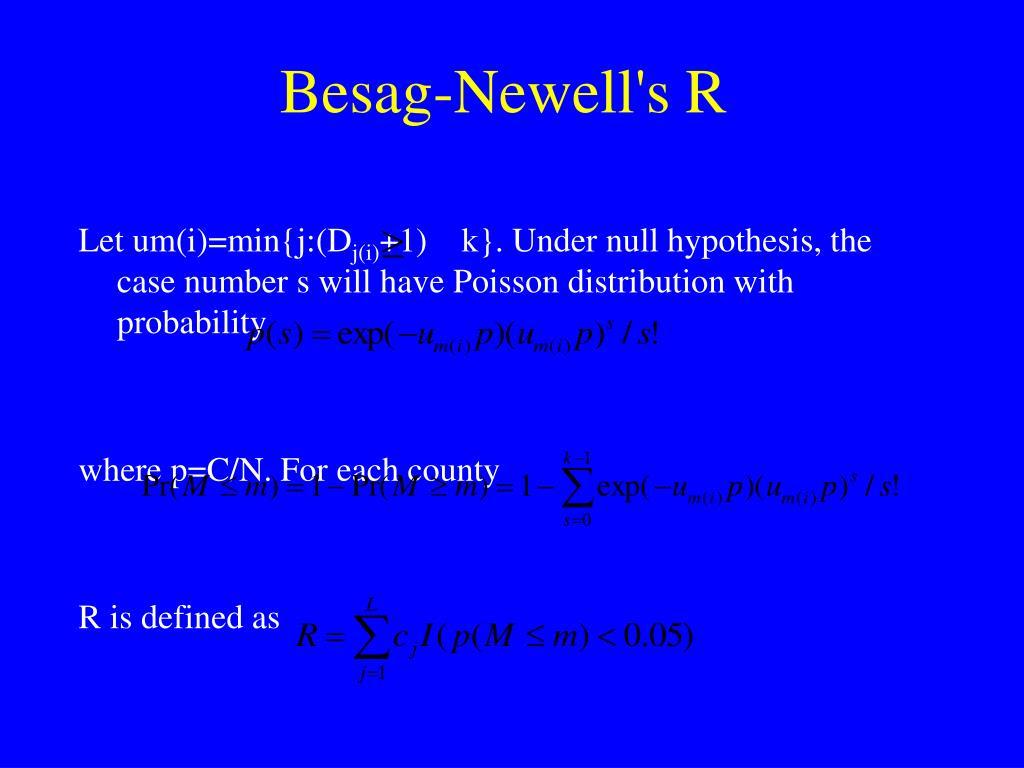 Besag-Newell's R