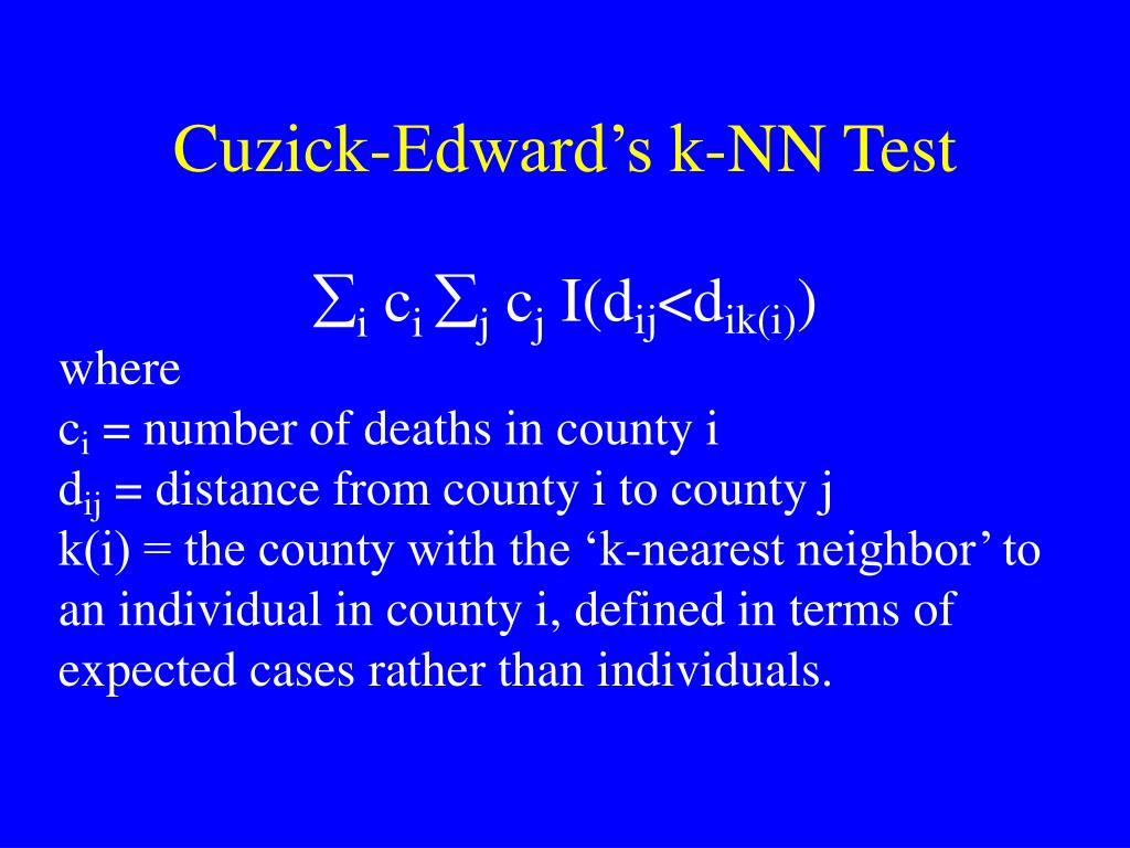 Cuzick-Edward's k-NN Test