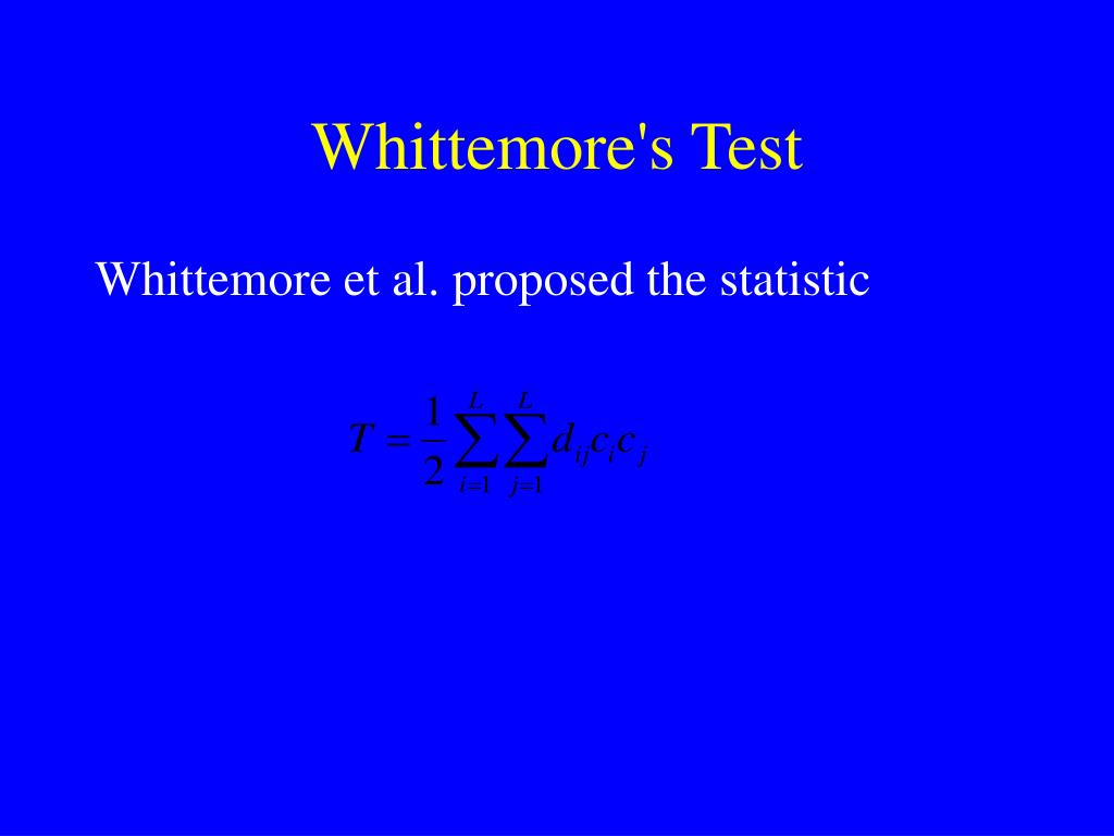 Whittemore's Test