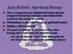 jain beliefs spiritual beings