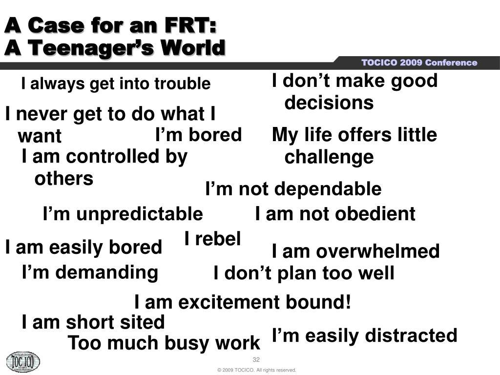 A Case for an FRT: