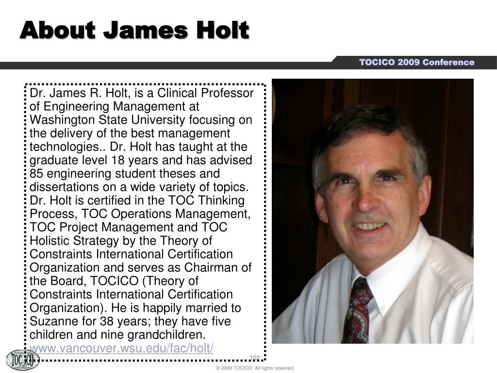 About James Holt