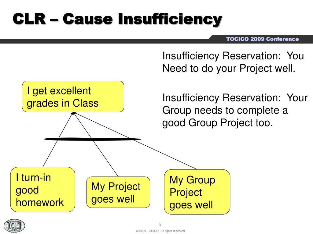 CLR – Cause Insufficiency