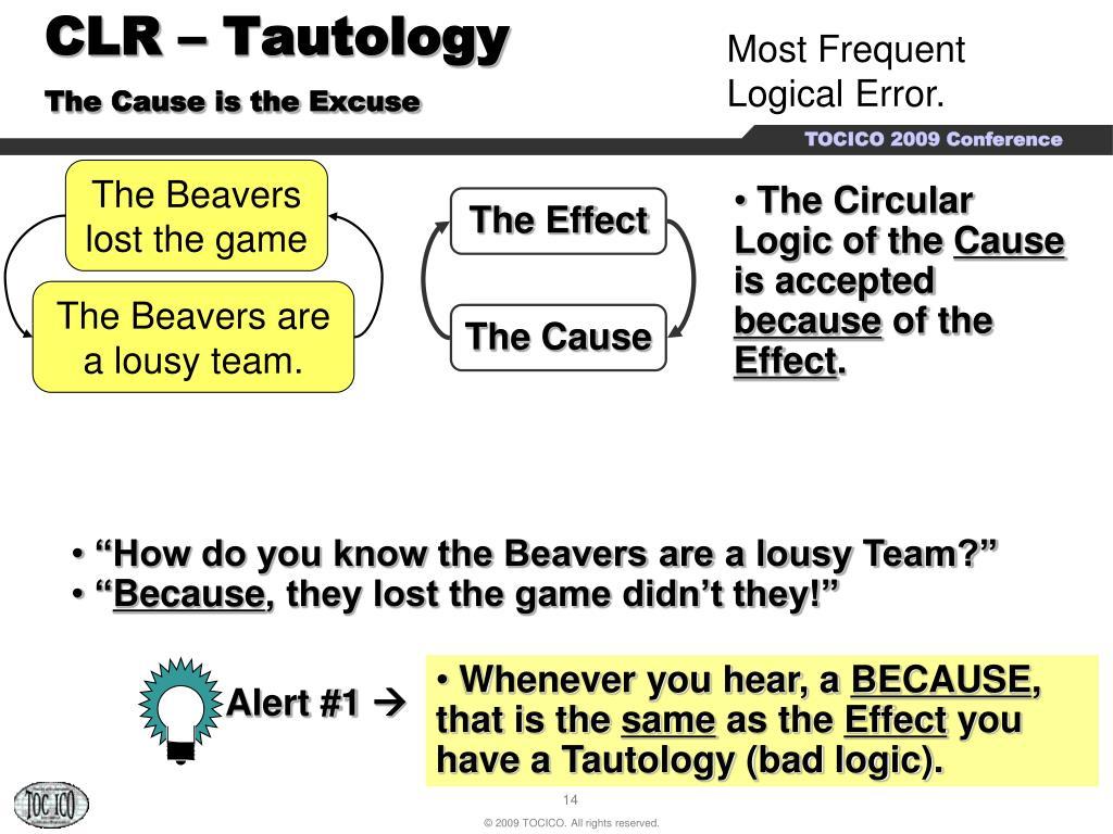 CLR – Tautology