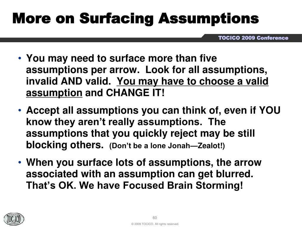 More on Surfacing Assumptions