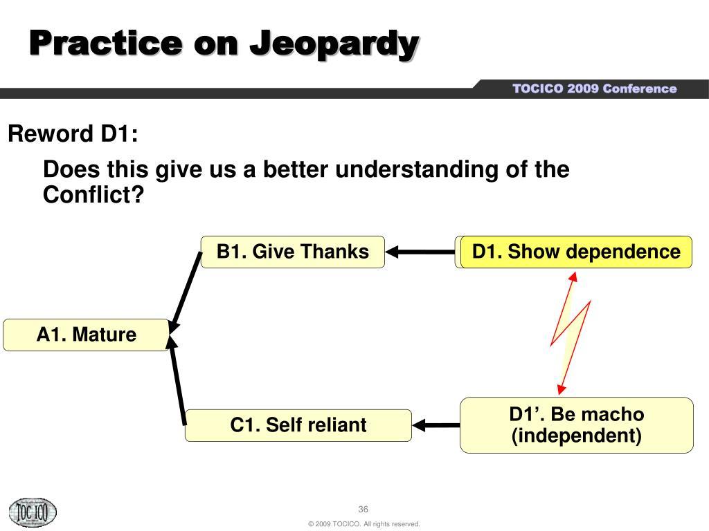 Practice on Jeopardy