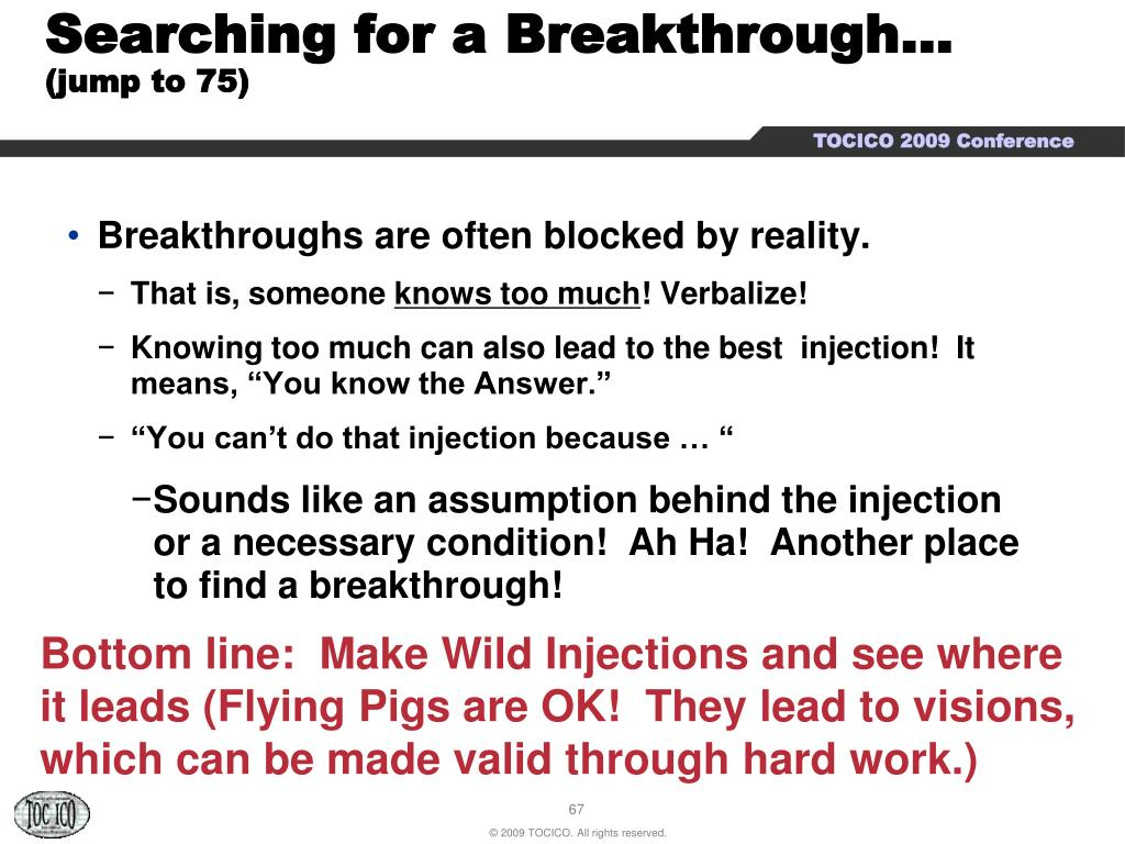 Searching for a Breakthrough…