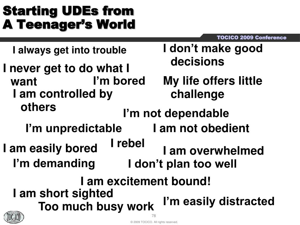 Starting UDEs from