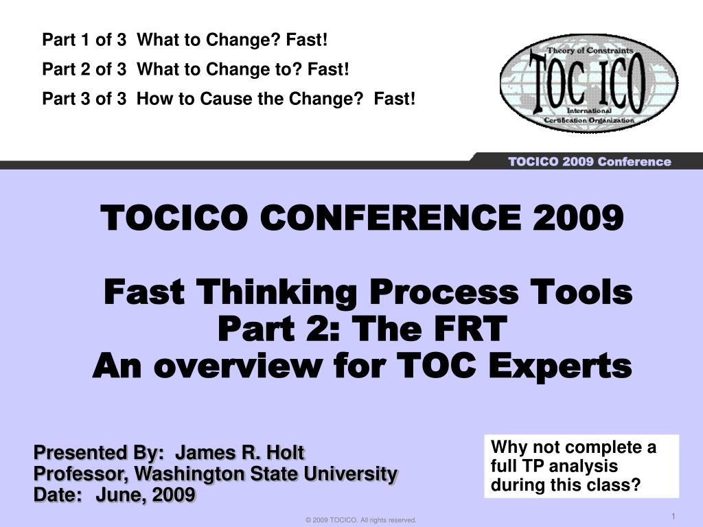 TOCICO CONFERENCE 2009