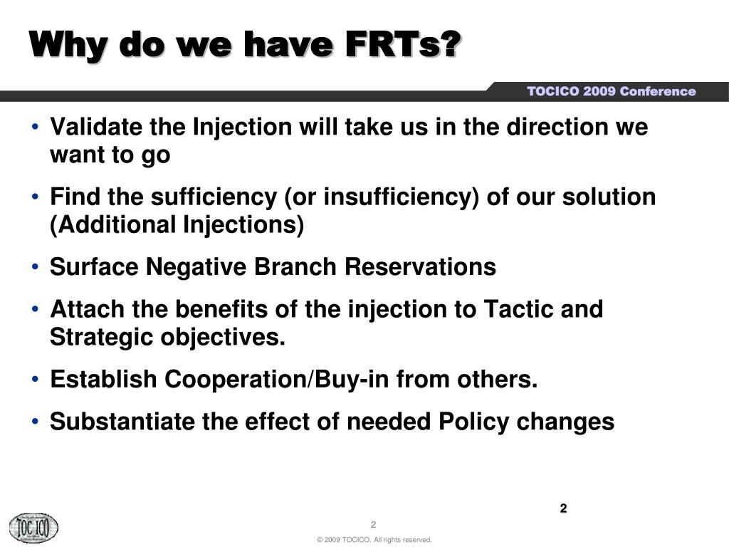 Why do we have FRTs?
