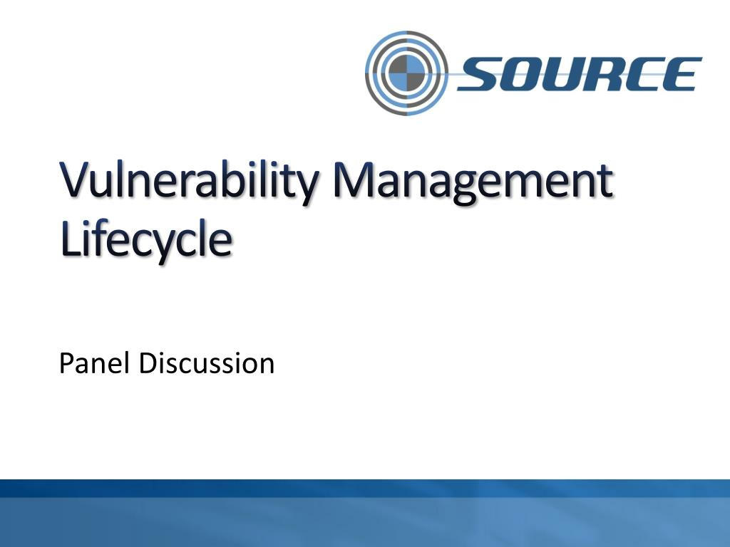 vulnerability management lifecycle l.