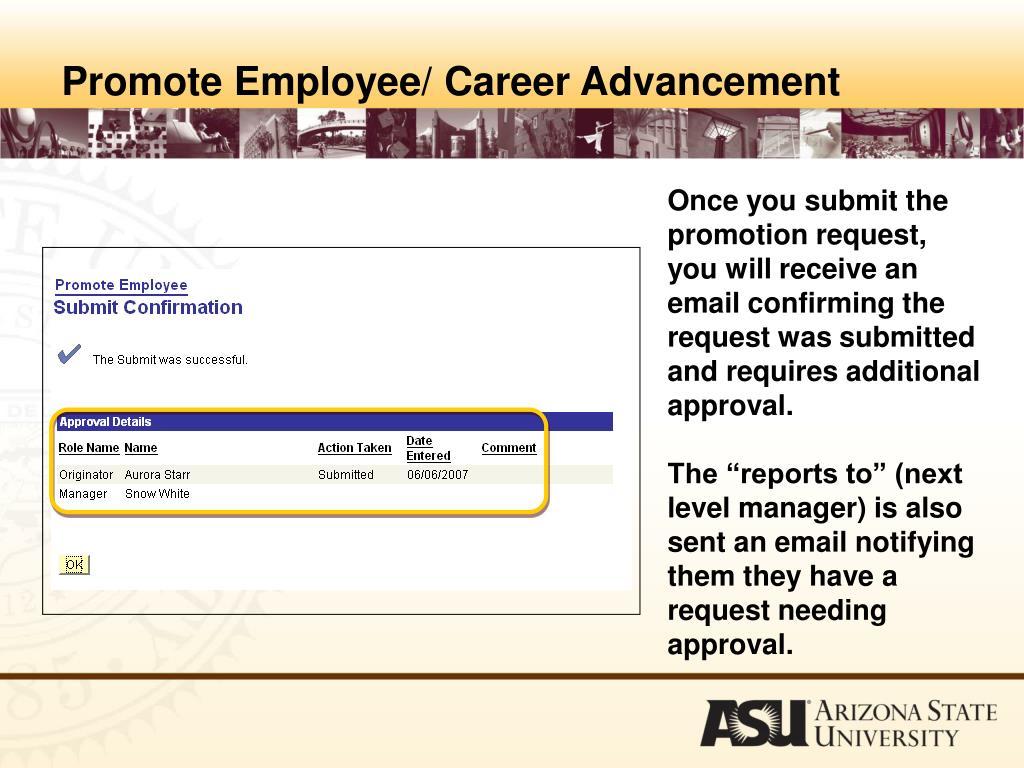 Promote Employee/ Career Advancement