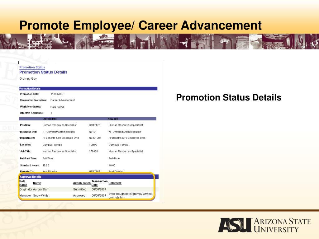 Promotion Status Details
