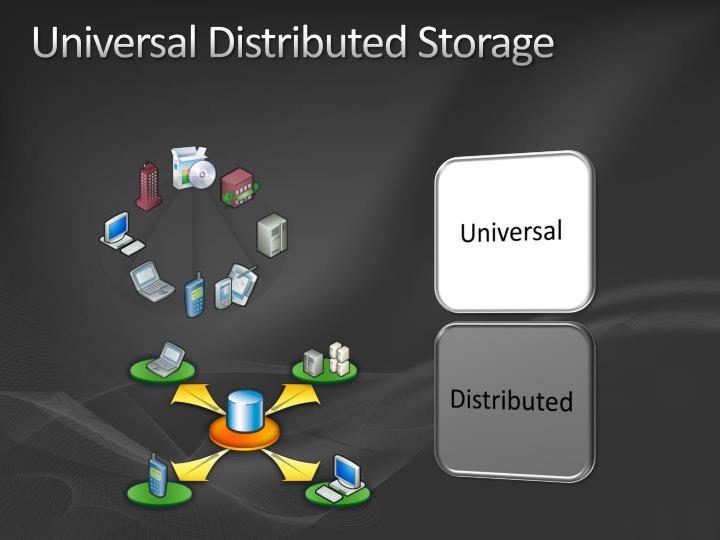 Universal distributed storage