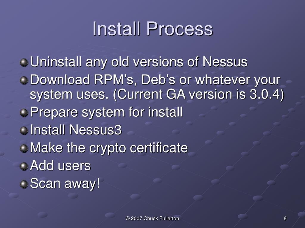 Install Process