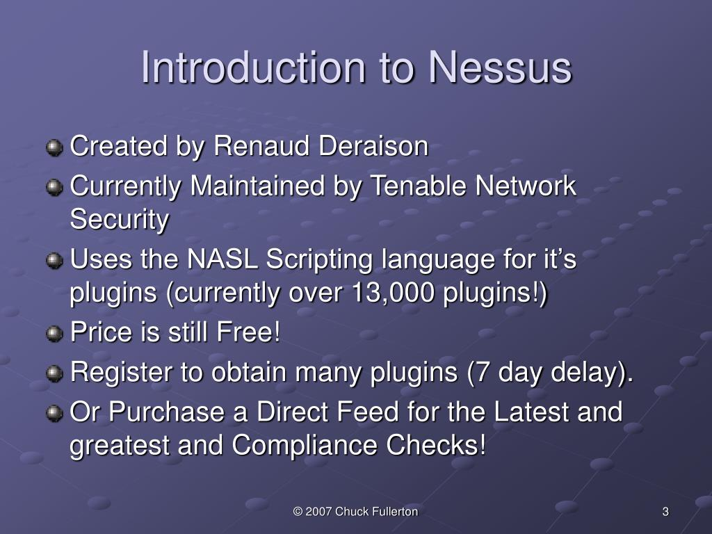 Introduction to Nessus