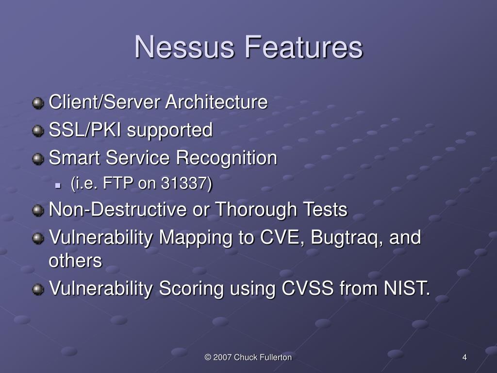 Nessus Features