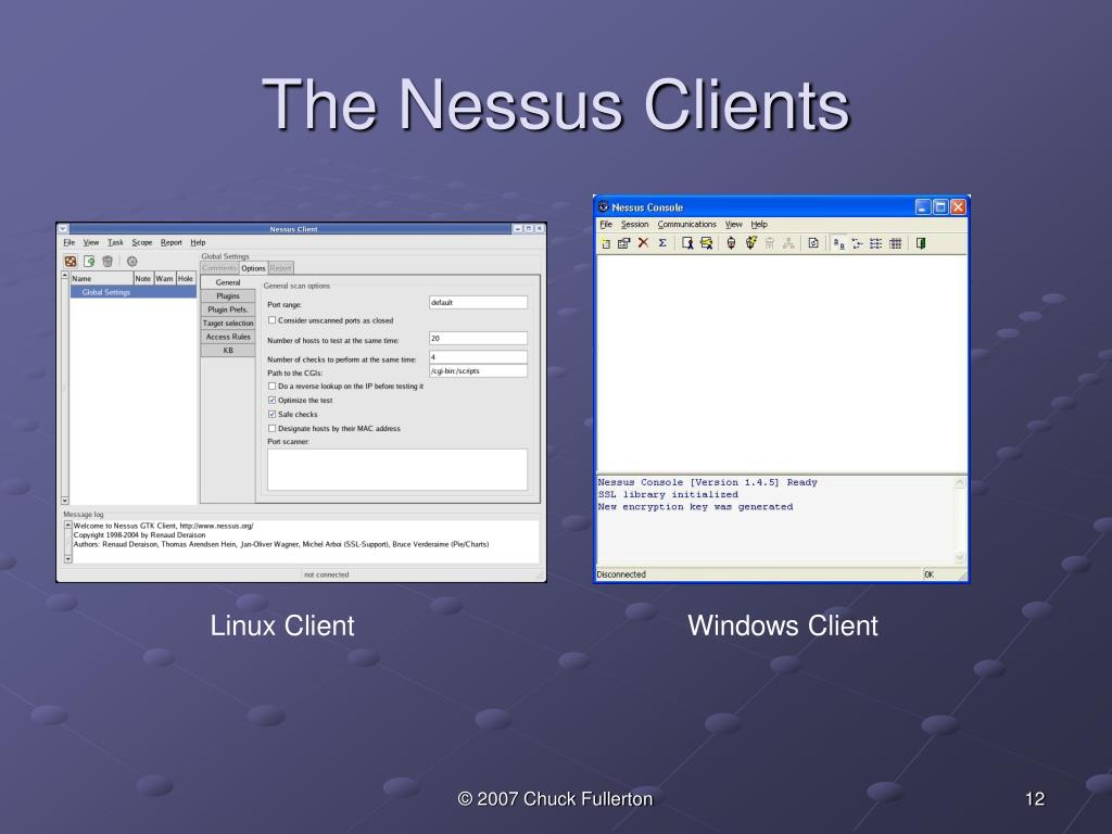 The Nessus Clients
