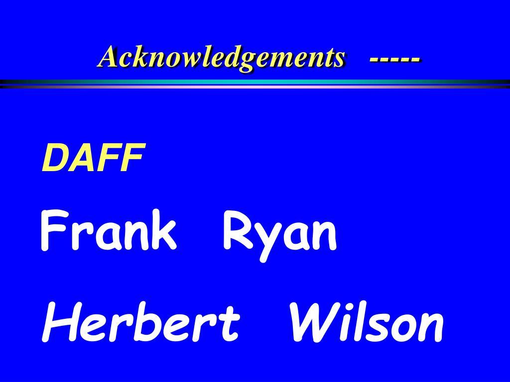 Acknowledgements   -----