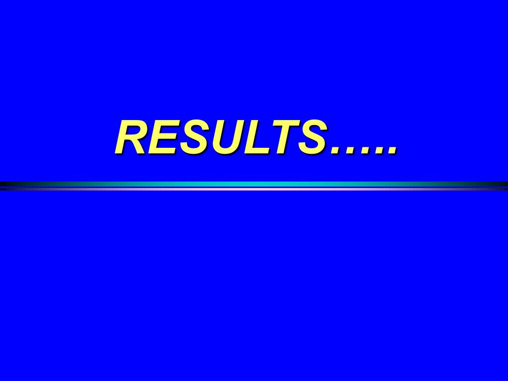 RESULTS…..