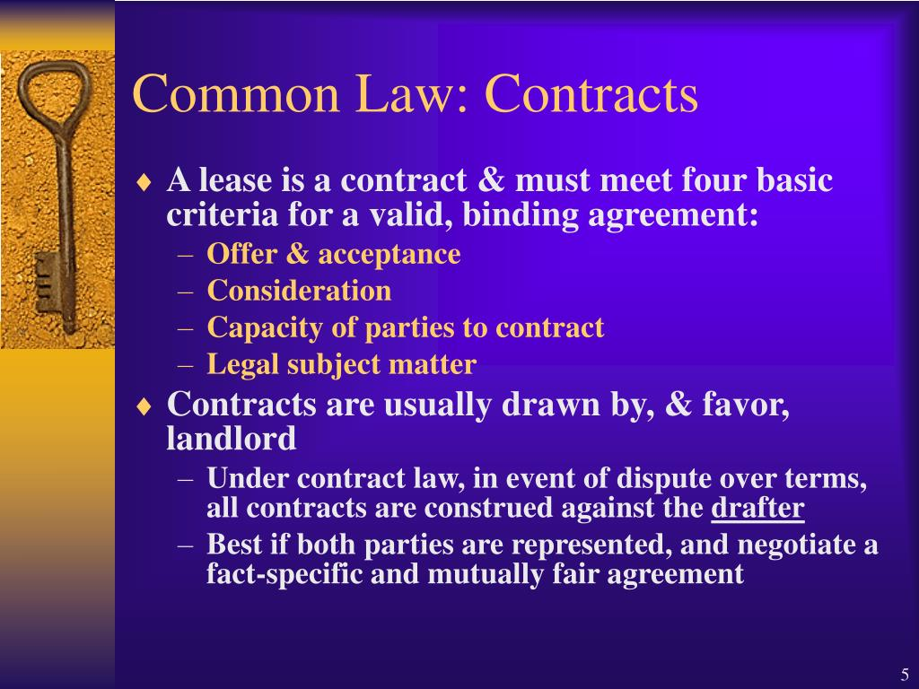 Common Law: Contracts