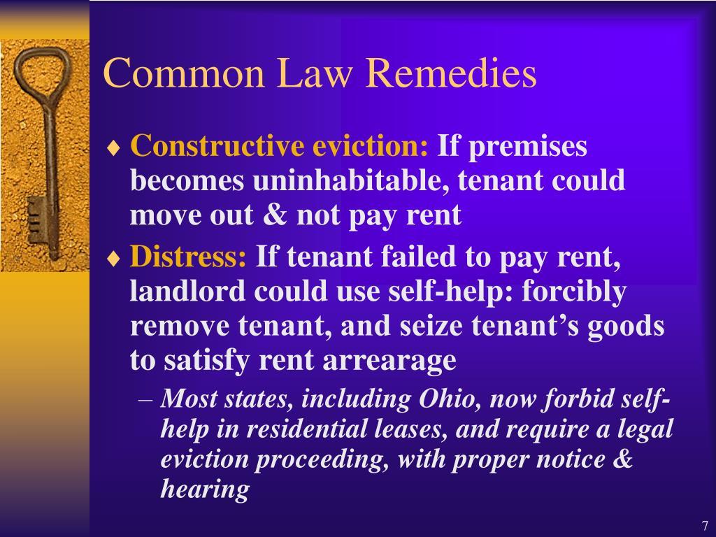Common Law Remedies