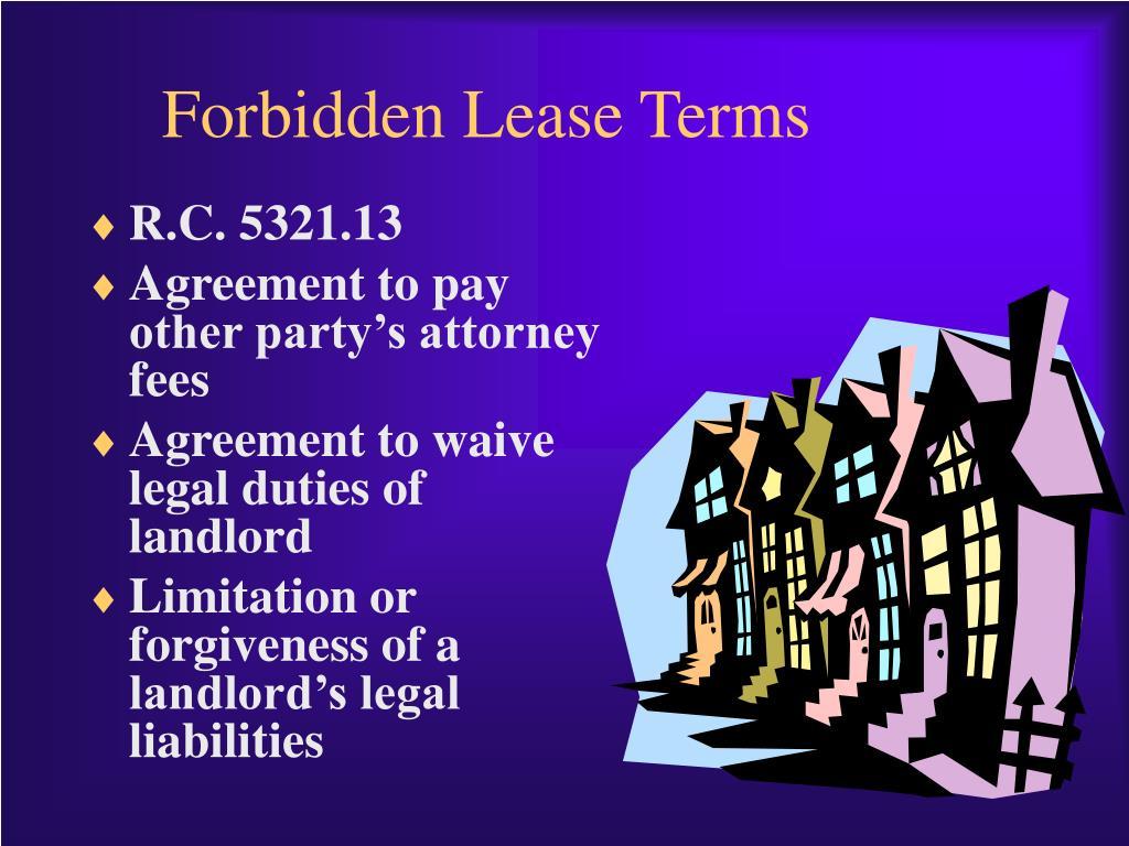 Forbidden Lease Terms